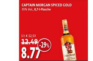 Bundesweit Kaiser's Captain Morgan 8,77 €