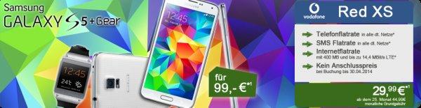 Samsung Galaxy S5 + Galaxy Gear V7000