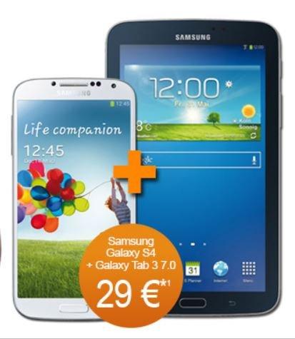 Handyflash - 300 Min- komplette SMS Flat - 300 MB Internetflat - im Vodafone Netz + Galaxy NOTE 3 Neo oder Galaxy S$ jeweils mit Galaxy Tab 3 7.0 Lite - 19,99 € Monatlich  - Anschlussgebührenfrei