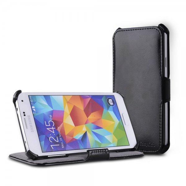 EasyAcc Samsung Galaxy S5 Hülle Case (Kunstleder, Schwarz) ab €3.49