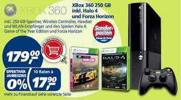 real,- XBox 360 250 GB inkl. Halo 4 und Forza Horizon