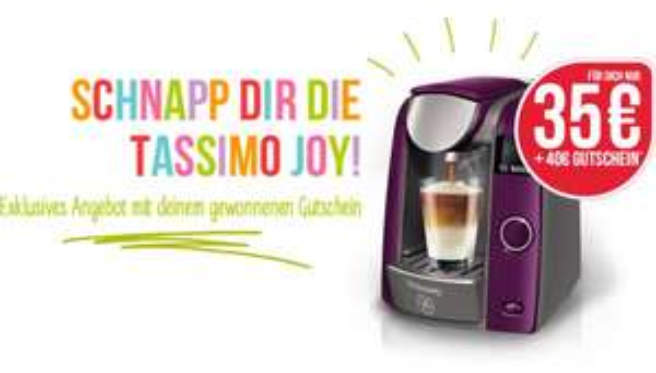 Tassimo Joy für 35€ inkl. 40€ GS