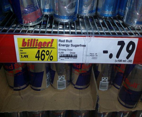 Kaufland Tübingen (LOKAL!?) Red Bull Energy Sugarfree -,79 € zzgl. Pfand