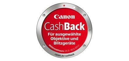 CANON Cashback für ausgewählte Kameras, Camcorder und Zubehör