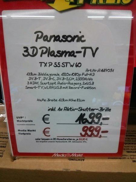 "[Lokal Media Markt Essen] Panasonic 55"" Stw 60"
