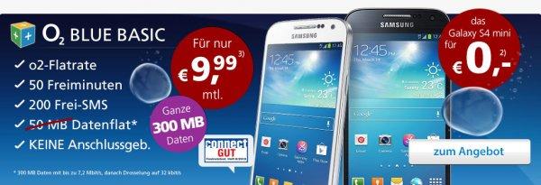 S4 mini mit kleinem Vertrag für 239,76€ @getmobile