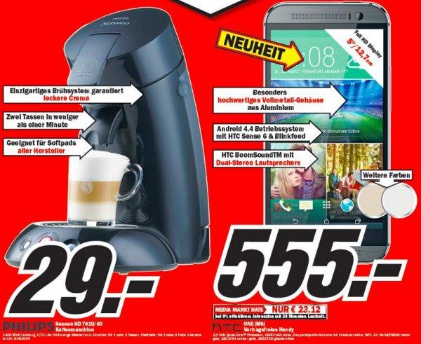[lokal MM Ravensburg - evtl MM bundesweit] Philips Senseo HD 7810/60 für 29€ und HTC One (M8) alle Farben für 555€