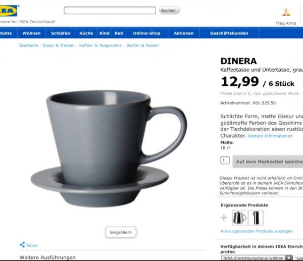 [LOKAL IKEA DORTMUND] DINERA Kaffeetasse