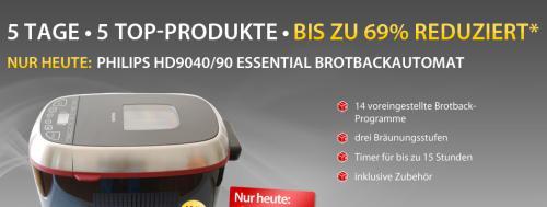MEINPAKET -> Brotbackautomat HD9040/90 Essential von Philips für 94,90 € inkl. VK statt UVP 179 €