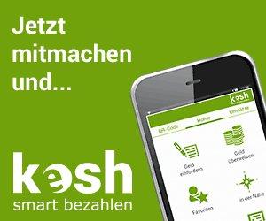 Düsseldorf: 5 Euro Startguthaben für kesh