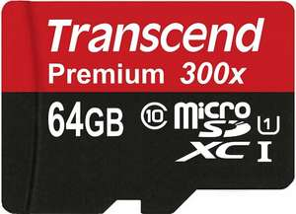 Transcend 64GB Micro SDHC Class 10 UHS-1