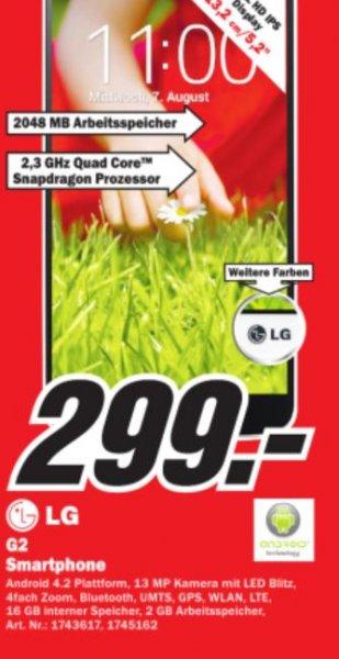 LG G2 16GB 299 Euro Media Markt Essen !! [Lokal]
