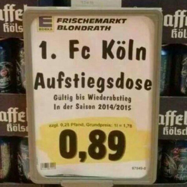 1 FC Köln Aufstiegsdose / gültig bis Abstieg 2014/2015