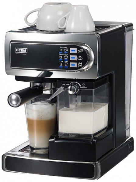 BEEM Germany D2000.550 i-Joy Café & Latte, Siebträger-Espressomaschine mit integriertem automatischen Milchaufschäumer für Cappuccino und Latte Machiato