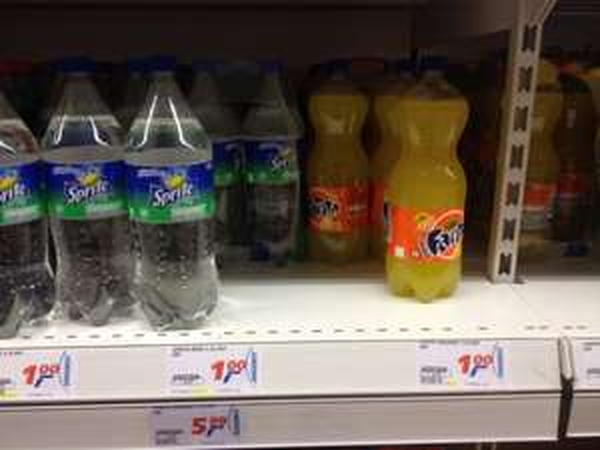 Cola, Fanta, Sprite 1,5l nur 1€ (Lokal: real Ettlingen bei Karlsruhe)