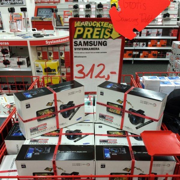Lokal mediamarkt weiterstadt. /. Samsung nx 2000 inclusive adobe lightroom Vollversion und gratis samsung Galaxy Tab 7.0 in schwarz!