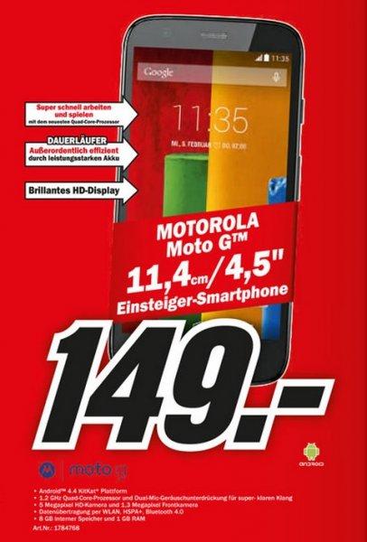 MOTOROLA Moto G 8 GB für 149€ Mediamarkt Online(Offline)