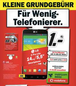 Media Markt national - LG G Pro Lite für 1,- mit Smart Surf Tarif 14,99 mtl.