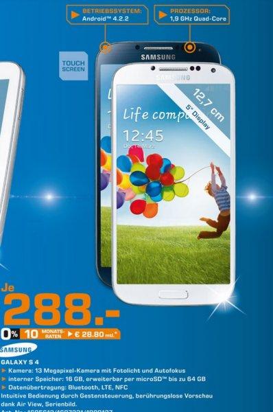 Samsung Galaxy S4(auch Black Edition) für 288€,Galaxy Tab 3 10.1 für 188€ Lokal [Saturn Leverkusen]