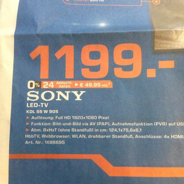 (Lokal) Sony 55W905 Saturn Leverkusen 1199€