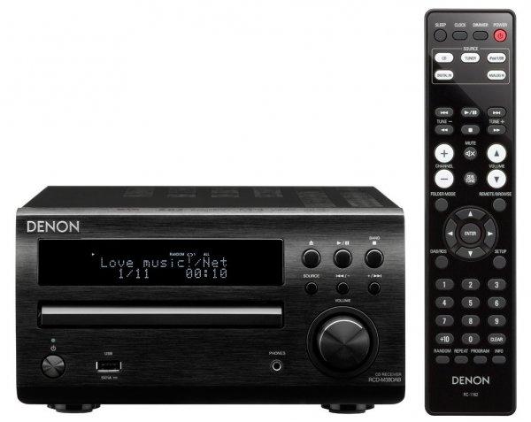 Denon RCD-M39DAB Kompakt-DAB-Receiver (2x30 Watt, Digitaleingang für TV, UKW, DAB/DAB+) schwarz für 225€ @Amazon.co.uk