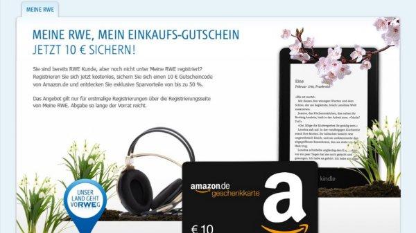 10 € Amazon Gutschein für erstmalige Registrierung bei RWE (Gewerbekunde bzw. Freiberufler)