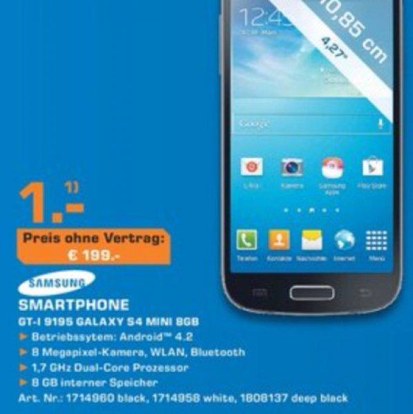Samsung Galaxy S4 Mini für 199 Euro [Lokal Saturn Baunatal]