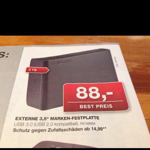 Verbatim 3TB ext. Festplatte, Stapels
