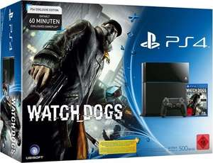 PS4 Konsole PlayStation 4 inkl. Watch Dogs bei Gamestop im Bundle