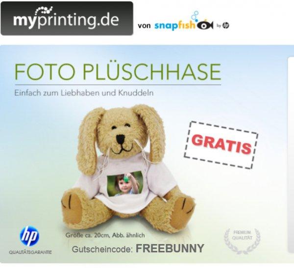 [Myprinting.de] Plüschhase mit eigenem Foto - wieder verfügbar -