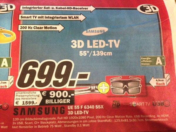"""[Lokal MM Bamberg/Hallstadt] Samsung UE55F6340 TV (55""""/139cm**3D-LED**WLAN)"""