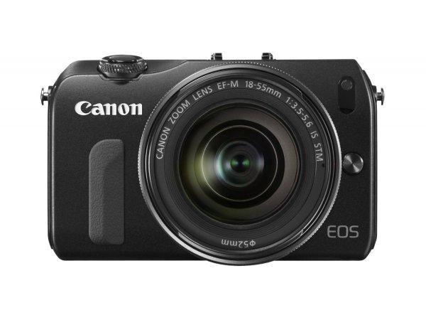 [amazon.uk] Canon EOS M Digitale Systemkamera, schwarz mit 18-55 mm Objektiv (schwarz) inkl. Vsk für ca. 302 €