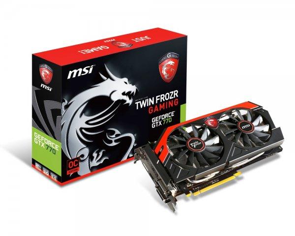 MSI Garfikkarte GeForce GTX770 Twin Frozr Gaming - 2 GB GDDR5 - PCI Express 3.0 + Adapter DVI