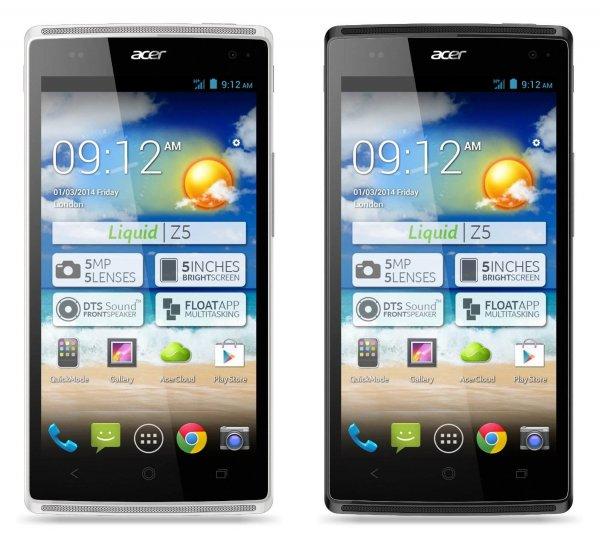 """Acer™ - Smartphone """"Liquid Z5 Duo"""" (5"""" 854x480,4GB+microSD, 5MP+LED Cam,Dual-SIM,2000mAh,Android 4.2) für €129.- [@ZackZack.de]"""