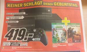*MM ULM*XBOX One 500GB Premium Bundle inkl. Plants VS Zombies Garden Warfware und Titanfall
