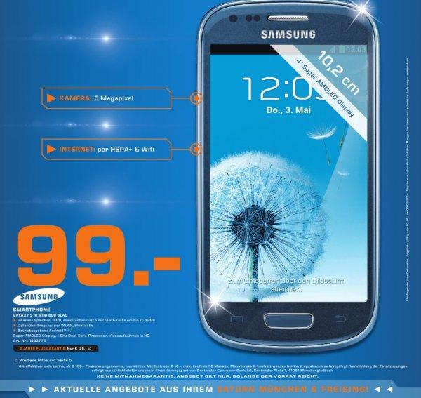 Saturn München & Freising Samsung Galaxy S3 Mini für 99€