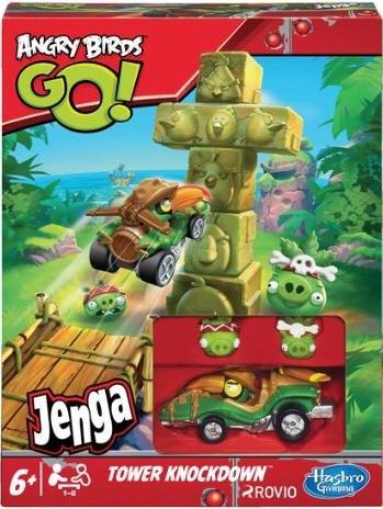 (AmazonPrime) Hasbro Angry Birds Go A6437E24 Tower Knockdown Spiel, Aktions- und Geschicklichkeitsspiel