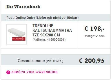 @Mömax 2 Badenia Trendline zum Preis von einer! ~200€ Ersparnis!
