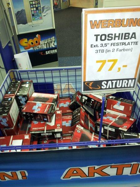 [Lokal Saturn Weimar] externe 3TB Toshiba HDD für 77€
