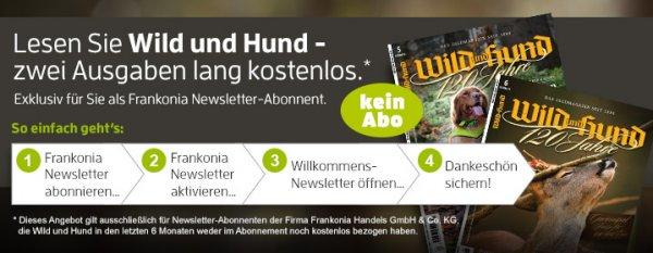 """2 Ausgaben """"Wild und Hund"""" gratis selbstkündigend"""