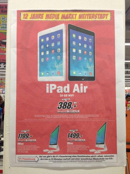 [LOKAL MM Weiterstadt] iPad Air 16GB WIFI für 388€