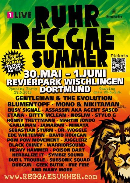 3 Tage Reggae Festival in Dortmund 49,50€ / 10% Rabatt