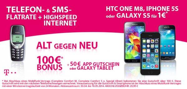 Preisboerse24.de - Sehr günstiger ORIGINAL Telekom-Vertrag Complete Comfort S (rechnerisch 1,37 monatlich)