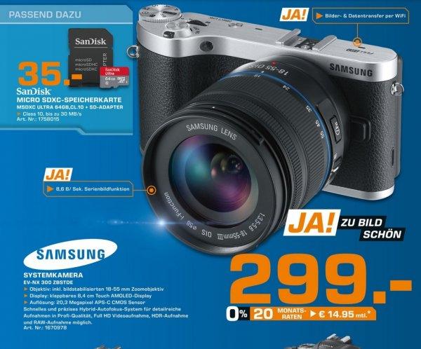 Systemkamera Samsung NX300 mit 18-55mm Objektiv in Hamburg und Norderstedt bis morgen für 299,- Euro