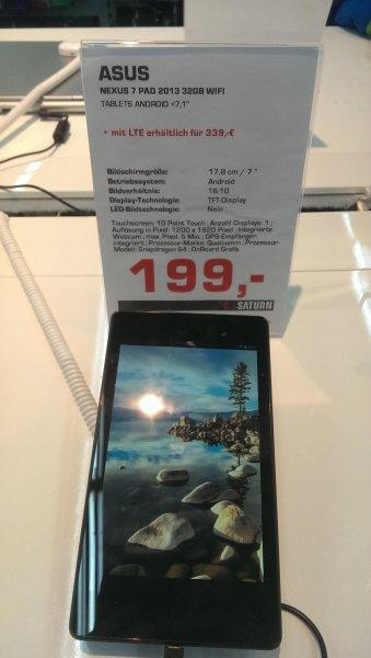 [Lokal] Saturn Norderstedt - Nexus 7 (2013) 32GB Wifi 199,-
