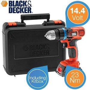 [ibood] Black & Decker 14,4V Akku-Bohrschrauber für 65,90€