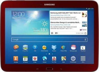 Samsung Galaxy Tab 3 10.1 in schwarz, rot, braun