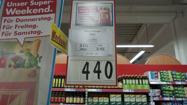 (Lokal) Kaufland Langenau Oettiner Export der Kasten für Euro 4,40 zzgl. Pfand