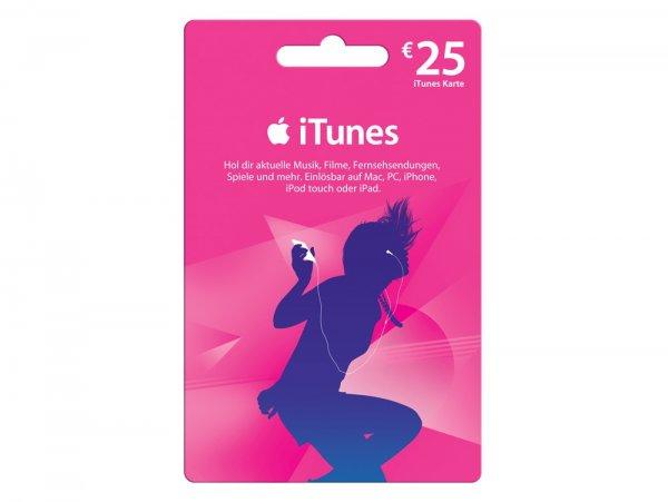 [Lidl] 25 €-iTunes-Karte für 20 Euro (20 % Rabatt)