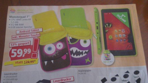 """Monsterpad 7"""" incl. Tasche bei Pfennigpfeiffer für 59,99€"""